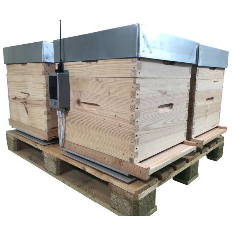 Balance de ruche Beescale BS4R ultra compact sur palette bois