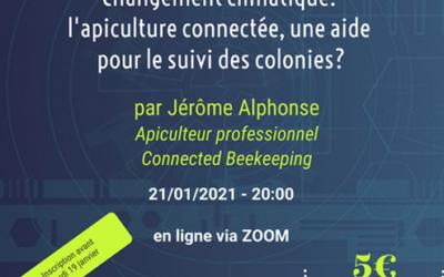 Conférence – CARI – Apiculture Connectée et changement climatique – Par jérôme ALPHONSE